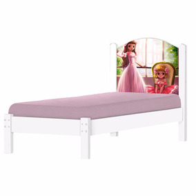 Cama Infantil Adesivada Geval Princesa Branca
