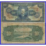 C003 - Bonita Cédula 10000 Réis / 10 Cruzeiros 1942 Escassa