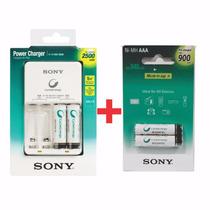 Cargador Para 4 Pilas Con 2 Aa 2500 Y 2 Aaa 900 Sony Gtia Of