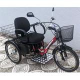 Triciclo Elétrico Deluxe Cadeira Almofadada 500 W 48 V 12ah