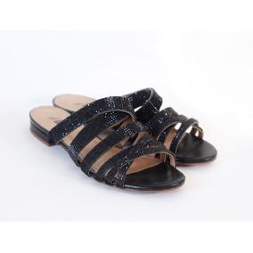 Sapato Feminino Rasteirinha Com Strass