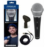 Micrófono Dinámico De Mano Samson R21 Cable Y Pipeta