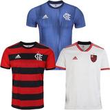 3 Camisas Do Flamengo 2018 Uniforme 1 E 2 Promoção F Grat