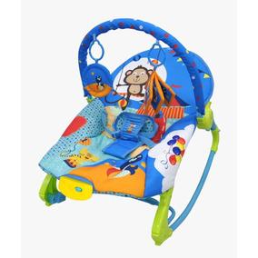 Cadeira Bebê Musical Vibratória Balanço 18 Kg Rocker Azul