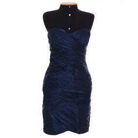 Vestido De Festa Ou Casual Curto Azul. Usado 1 Vez.