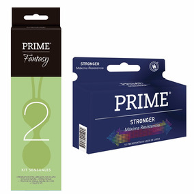 Combo Prime Fantasy 1 Esferas + Preservativos Stronger X12