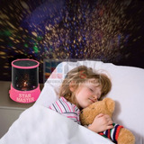 Velador Proyector Estrellas Luz De Noche Seguridad Dde $1