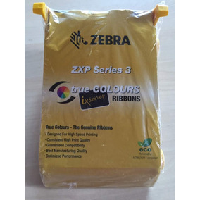 Cinta Zebra Zxp Series 3 True Colors Ribbons Mrd7458495 Bss