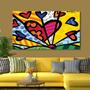Romero Britto Na Sua Sala Quadro Decorativo 105x75cm