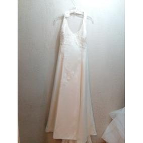 Vestido De Novia Minimalista, Color Ivory. Casa Blanca