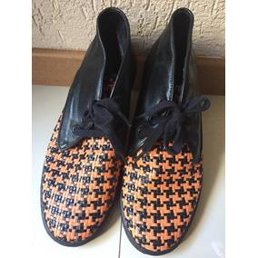 Sapato Laranja Cristofoli Tribal Coturno Bota