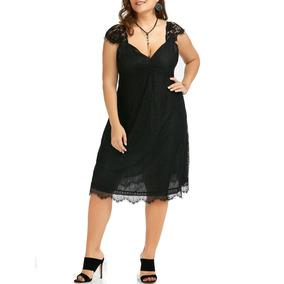 Vestido Elegante De Encaje Tallas Extra Hasta 5xl