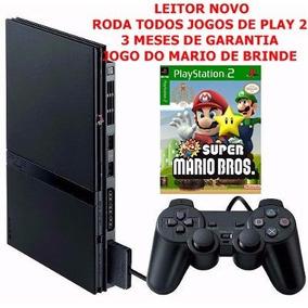 Playstation 2 Slim Completo Com 1 Controle - Leitor Novo