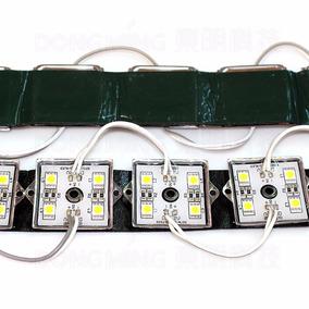 Módulo 4 Leds - 5050 - 80 Lúmens - Branco Quente - Ip65