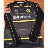 Camisa Borussia Dortmund Reus Mangas Longas Bundesliga Preta