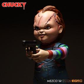 Chucky Scar Brinquedo Assassino 13 Cm Mezco Edição 2016 Novo