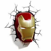 Homem De Ferro Iron Man Luminária 3d Light Fx Avengers