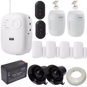Sistema Alarme Intelbras Kit 4 Sensor Magnético E 2 Infra