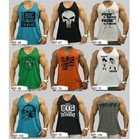 20 Regata Masculina Camiseta Camisa Cavada Tank Treino Slim