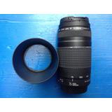 Canon 75-300mm Iii Con Sus Tapas Y Parasol Impecable