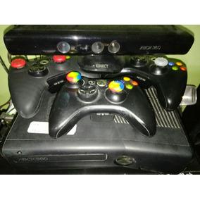 Xbox 360 Destrabada Rgh + 3 Controles + Kinect + 60 Juegos
