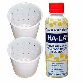 Coalho Líquido Ha-la 200ml Coagulante Queijo + 2 Formas 500g