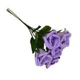 Rosas Artificiais - 72 Flores - Flor Artificial Eva - Lilás
