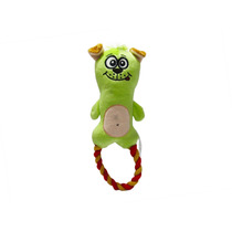 Brinquedo Mordedor Cachorro Pelúcia 24,5x9,3x4,2 Cão Verde