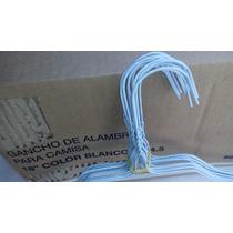 Ganchos Tintoreria Lavanderia Alambre Camisa Blancos 500 Pza
