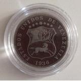 Moneda Venezuela 12 1/2 Céntimos 1936 F/vf