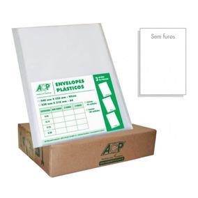 Envelope Saco Plástico Ofício Sem Furos Grosso 015sf Caixa