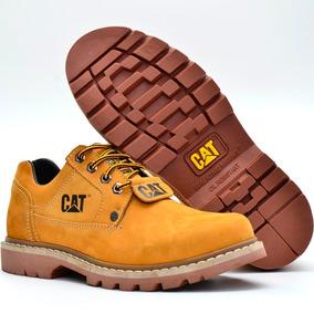 Sapato Bota Botina Coturno Caterpillar Em Couro Barato