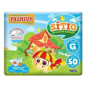 Kit Com 3 Fraldas Descartável Infantil Sitio Premium G