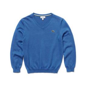 Sweater Lacoste, Niño, Manga Larga, Cuello V, Aj1888