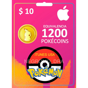 Código Itunes Usa $10 = 1200 Pokécoins En Pokemon Go Iphone