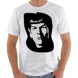 Camisa Camiseta Star Trek Jornada Nas Estrelas Spock