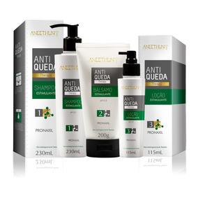 Shampoo Kit Anti-queda Aneethun 3 Produtos Original