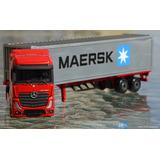 Camion Mercedez Benz Actros Maersk 1:87 Ho Majorette