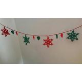 Guirnalda De Navidad! 1 Mt. Tejido Al Crochet Adorno Arbol