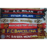 Bufanda Barcelona/real Madrid/manchester/bayern/inter/milan