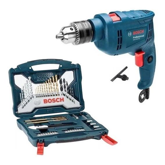 Taladro Percutor Atornillador Bosch 550w + Set 50 Acc Bosch