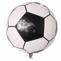 Kit Balão Metalizado Bola De Futebol - 12 Un.