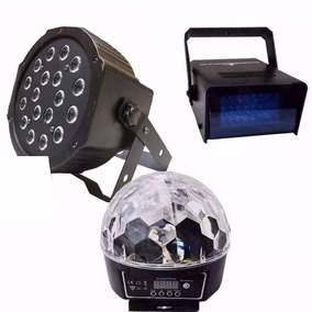 Kit Luces Disco Audioritmico Estrobo Bola Led Dj Cañon Leds