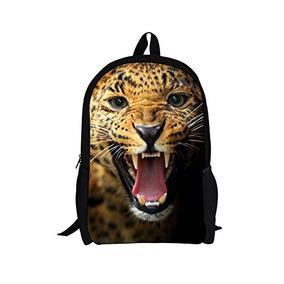 Abrazos Idea Moda Leopard Head School Bags Mochila Para Niñ