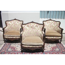 Sillon 3 cuerpos sillon 1 muebles antiguos usado en - Sillones estilo frances ...