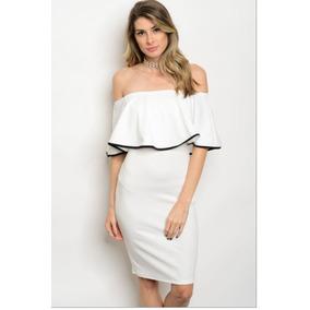 Vestido Casual De Moda Blanco