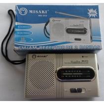 Rádio Am Fm Portátil E Pequeno + Fone Philips + 4 Pilhas Aa