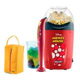 Kit Pipoqueira + Mixer Misturador De Alimentos Robot Mickey