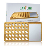 Laptop Lap Desk Bamboo With Aluminum Mouse Pad & Cell Phone/