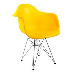 Kit 4 Cadeiras Charles Eames Eiffel Com Braço - Frete Gratis